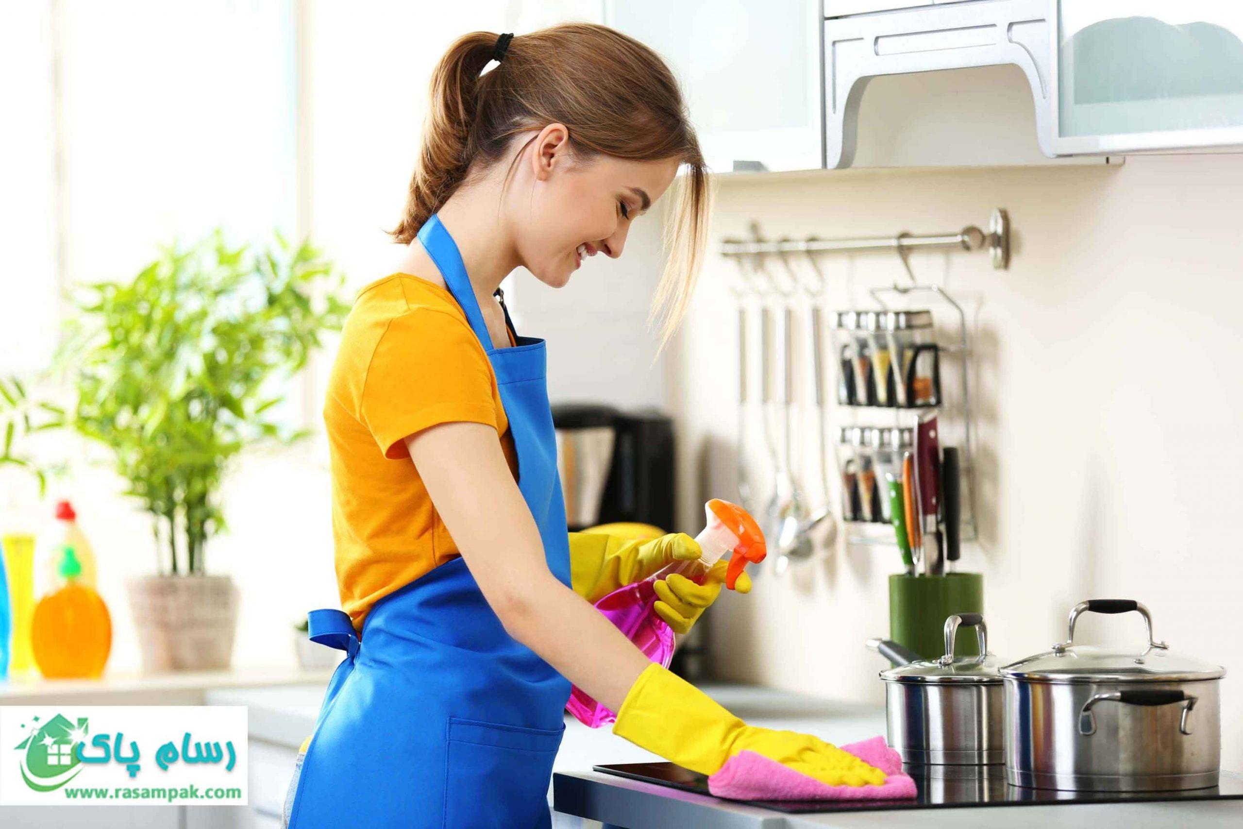 نظافت منزل در سریعترین زمان-نظافت منزل آشپزخانه