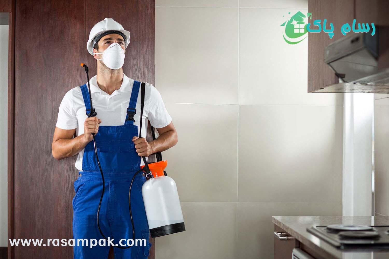 سم پاشی منزل شرکت نظافتی رسام پاک نظافت منزل