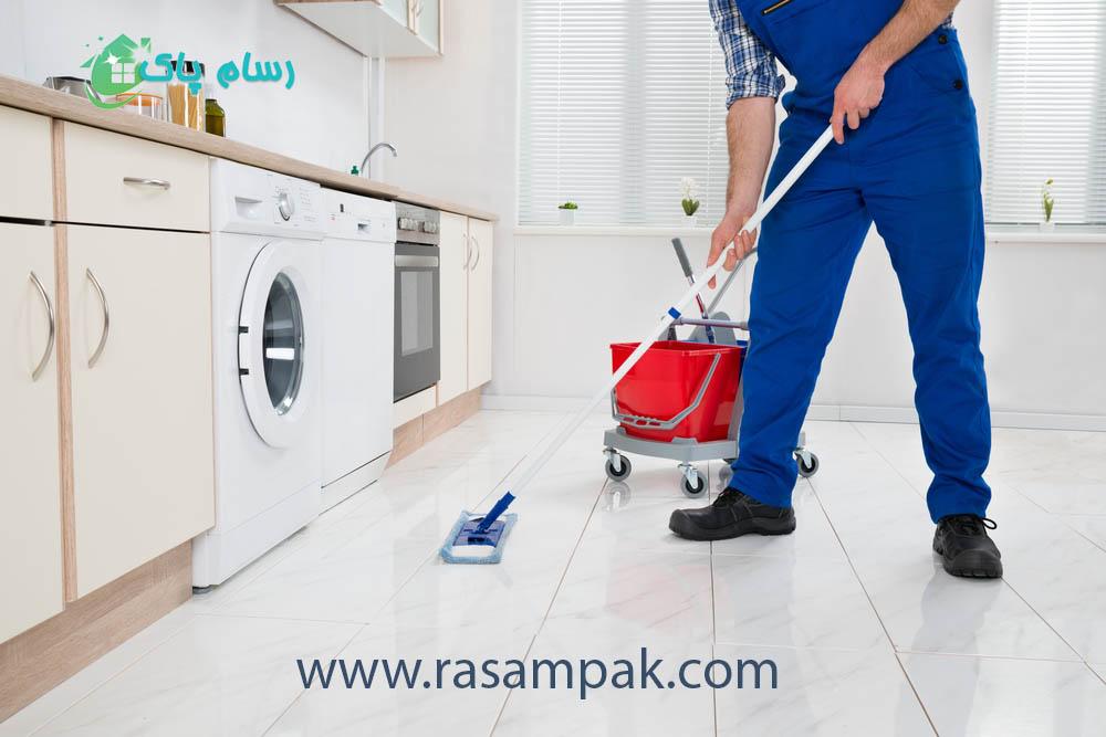 نظافت منزل با کارگر متخصص شرکت نظافتی رسام پاک نظافت منزل