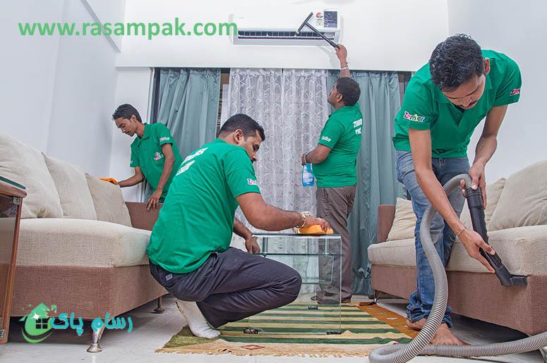 شرکت نظافتی رسام پاک - نظافت منزل